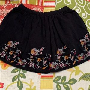 Black flowery skirt